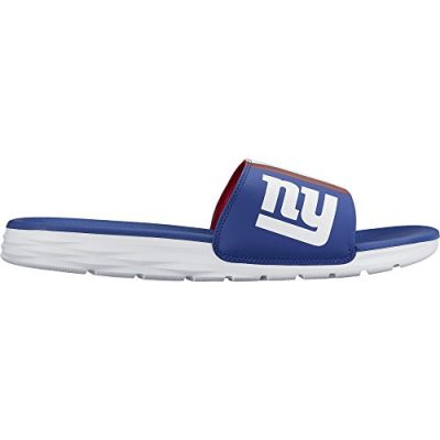 Mens-Nike-Benassi-Solarsoft-New-York-Giants-NFL-Sandal-Rush-BlueWhite-Size-8-M-US-0