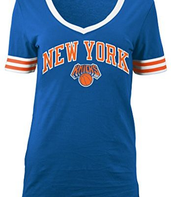 NBA-New-York-Knicks-Adult-Women-Ladies-Baby-Jersey-Short-sleeve-V-Neck-with-Chenille-AppliqueMSpeed-Blue-0