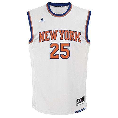lowest price 6ba31 63432 NBA New York Knicks Derrick Rose #25 Men's Home Replica Jersey, Small, White