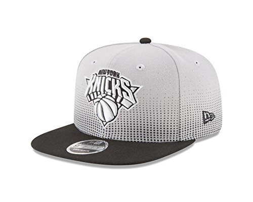 6fe4d3891a190 NBA New York Knicks Flow Team Snap Black 9Fifty Cap ...