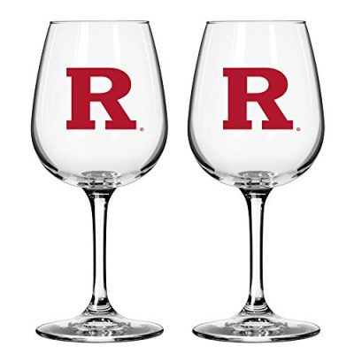 NCAA-Rutgers-Scarlet-Knights-Game-Day-Wine-Glass-12-ounce-2-Pack-0