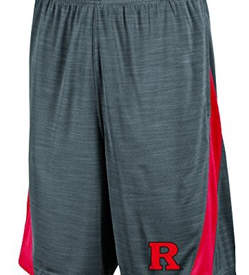 NCAA-Rutgers-Scarlet-Knights-Mens-Boosted-Stripe-Color-Blocked-Training-Shorts-Small-Gray-0