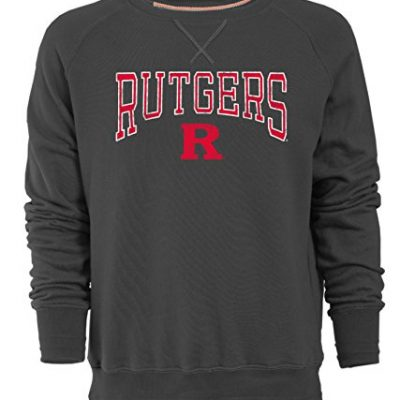 NCAA-Rutgers-Scarlet-Knights-Mens-Sueded-Fleece-Crew-Pullover-Large-Carbon-0