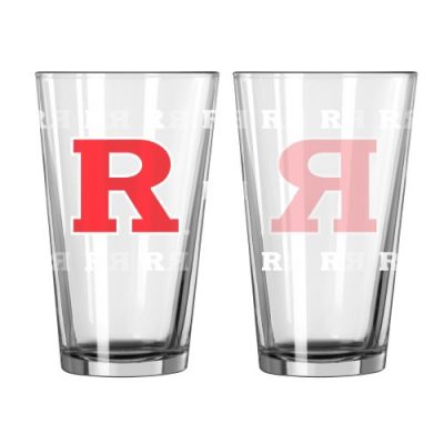 NCAA-Rutgers-Scarlet-Knights-Satin-Etch-Pint-16-ounce-2-Pack-0