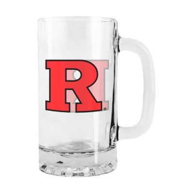 NCAA-Rutgers-Scarlet-Knights-Satin-Etch-Tankard-Glass-16-ounce-0