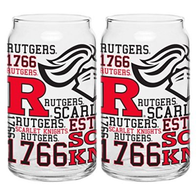 NCAA-Rutgers-Scarlet-Knights-Spirit-Glass-Can-16-ounce-2-Pack-0