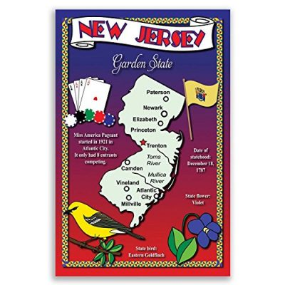 NEW-JERSEY-STATE-MAP-postcard-set-of-20-identical-postcards-Post-cards-with-NJ-map-and-state-symbols-Made-in-USA-0