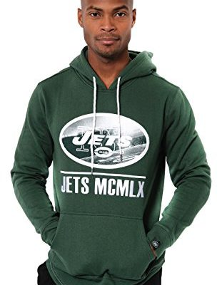 NFL-New-York-Jets-Mens-Applique-Fleece-Pullover-Hoodie-Sweatshirt-Green-X-Large-0
