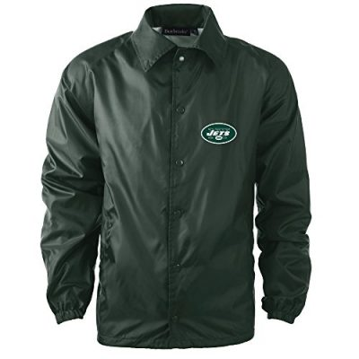 NFL-New-York-Jets-Mens-Coaches-Windbreaker-Jacket-X-Large-Forest-0
