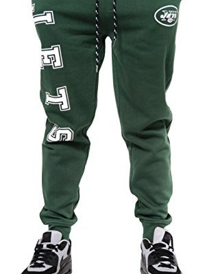 NFL-New-York-Jets-Mens-Team-Logo-Active-Basic-Fleece-Jogger-Pants-Medium-0
