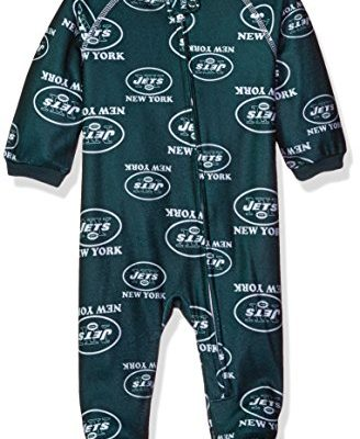 NFL-New-York-Jets-Newborn-Boys-Sleepwear-All-Over-Print-Zip-Up-Coveralls-0-3-Months-Hunter-0