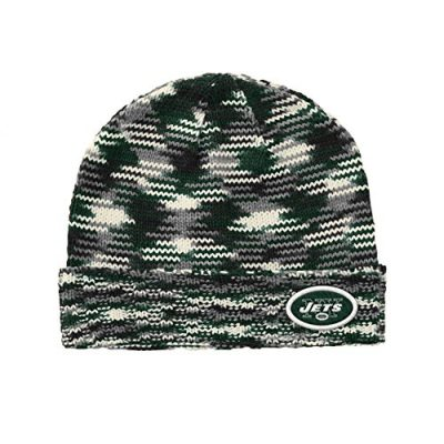 NFL-New-York-Jets-Soft-Space-Dye-Yarn-Beanie-One-Size-GreenBlackGrey-0