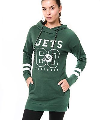 NFL-New-York-Jets-Womens-Tunic-Pullover-Hoodie-SweatshirtGreenMedium-0