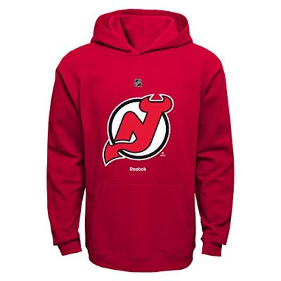 NHL-New-Jersey-Devils-Boys-8-20-Primary-Logo-Fleece-Hoodie-Red-Large-0