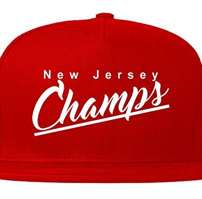 NJ-New-Jersey-Champs-Champions-State-Script-Snapback-Hat-Cap-Red-0