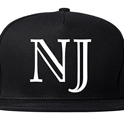 NJ-New-Jersey-High-Fashion-Typography-State-Snapback-Hat-Cap-Black-0