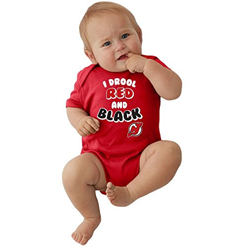 new product d37e9 76bb1 New Jersey Devils NHL Newborn Infant I Drool Bodysuit Creeper (12 Months)