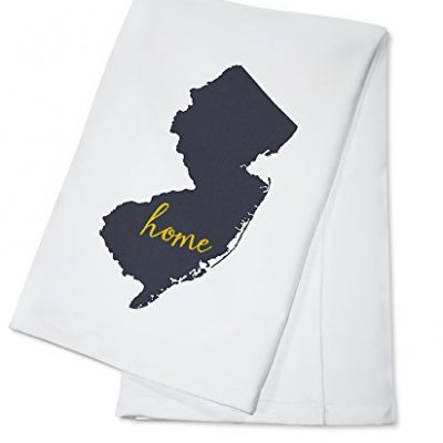 New-Jersey-Home-State-Gray-on-White-100-Cotton-Absorbent-Kitchen-Towel-0