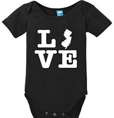 New-Jersey-Love-Printed-Infant-Bodysuit-Baby-Romper-Black-3-6-Month-0