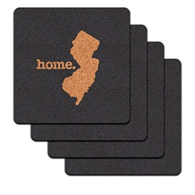 New-Jersey-NJ-Home-State-Low-Profile-Cork-Coaster-Set-Solid-Navy-Blue-0
