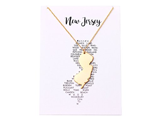 New jersey necklace state necklace new jersey state pendant nj new jersey necklace aloadofball Image collections