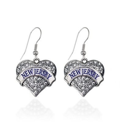 New-Jersey-Pave-Heart-Earrings-French-Hook-Clear-Crystal-Rhinestones-0