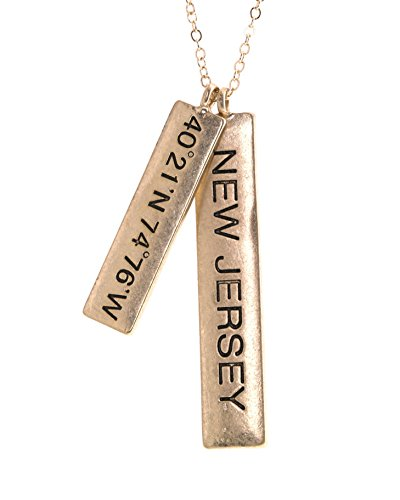 new jersey state bar pendant necklace shop new jersey