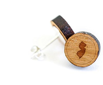 New-Jersey-Stud-Wooden-Earrings-Made-with-Premium-American-Cherry-Wood-0