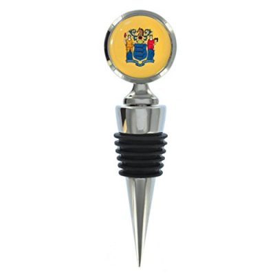 New-Jersey-US-State-Flag-Metal-Wine-Bottle-Stopper-0