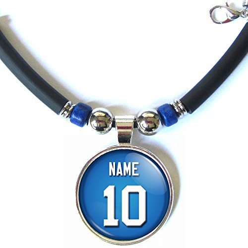 New york football jersey necklace personalized with your name and new york football jersey necklace aloadofball Image collections