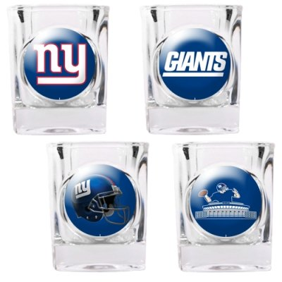 New-York-Giants-4-Piece-Square-Shot-Glass-Set-wIndividual-Logos-0