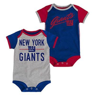 dcd41656a New York Giants Descendant 2 Pack Bodysuit Onesie Set (12M)
