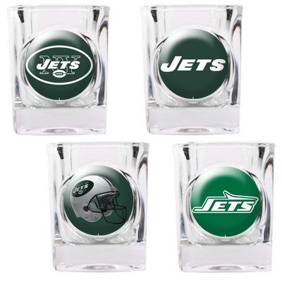 New-York-Jets-4-Piece-Square-Shot-Glass-Set-wIndividual-Logos-0