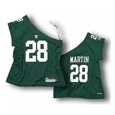 New-York-Jets-Curtis-Martin-28-Womens-NFL-One-Shoulder-Jersey-Green-X-Large-0