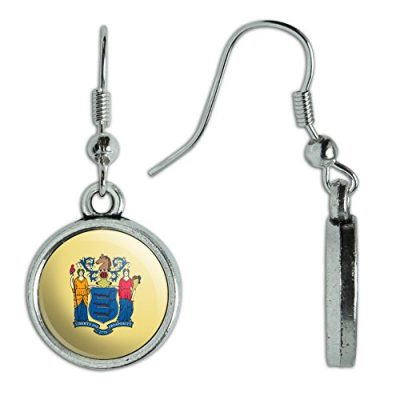 Novelty-Dangling-Drop-Charm-Earrings-State-Flag-New-Jersey-State-Flag-0