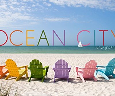 Ocean-City-New-Jersey-Colorful-Beach-Chairs-9x12-Collectible-Art-Print-Wall-Decor-Travel-Poster-0