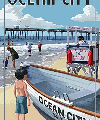 Ocean-City-New-Jersey-Lifeguard-Stand-9x12-Collectible-Art-Print-Wall-Decor-Travel-Poster-0