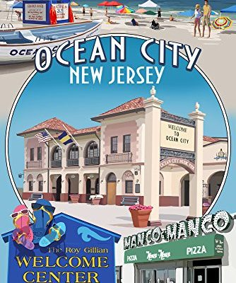 Ocean-City-New-Jersey-Montage-9x12-Collectible-Art-Print-Wall-Decor-Travel-Poster-0