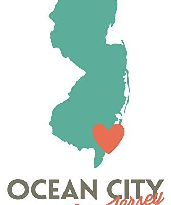 Ocean-City-New-Jersey-State-Outline-and-Heart-12x18-Art-Print-Wall-Decor-Travel-Poster-0