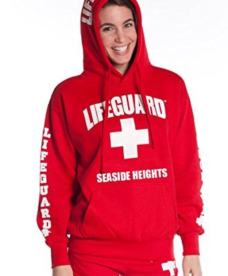 Official-Ladies-Red-Lifeguard-Hoodie-Seaside-Heights-NJ-X-Large-0