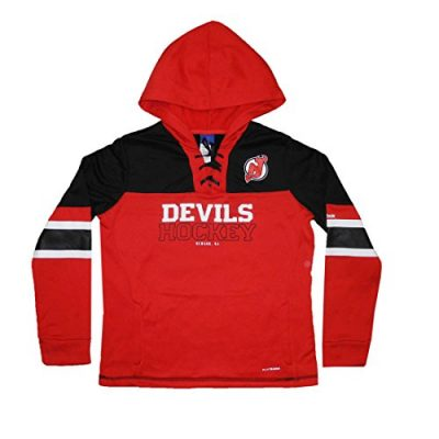 PLUS-SIZE-NJ-DEVILS-Womens-Athletic-Warm-Pullover-Hoodie-2XL-Red-0