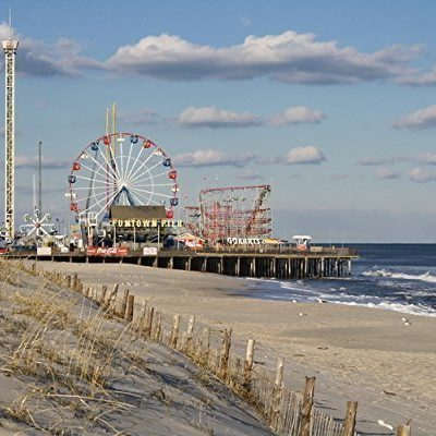 Photograph-of-the-Funtown-Pier-on-the-Boardwalk-in-Seaside-Park-NJ-Beach-Wall-Art-Coastal-Decor-Landscape-Photography-Funtown-Pier-2-Seashore-Print-0