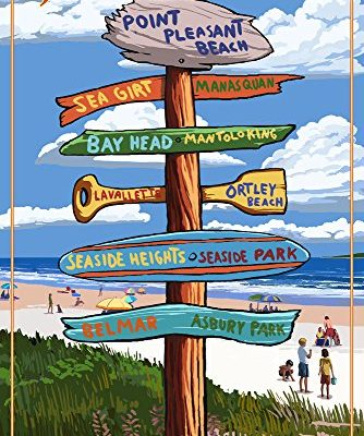 Point-Pleasant-Beach-New-Jersey-Destinations-Signpost-9x12-Collectible-Art-Print-Wall-Decor-Travel-Poster-0