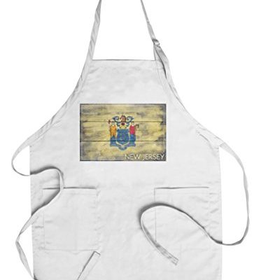 Rustic-New-Jersey-State-Flag-CottonPolyester-Chefs-Apron-0