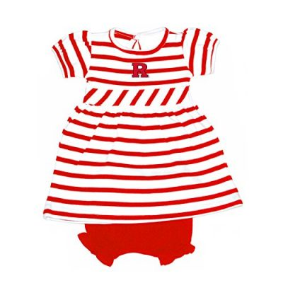 Rutgers-Scarlet-Knights-NCAA-College-Newborn-Infant-Baby-Striped-Dress-0-3-Months-0