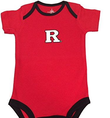 Rutgers-Scarlet-Knights-Two-Tone-NCAA-College-Newborn-Infant-Baby-Creeper-0-3-Months-0