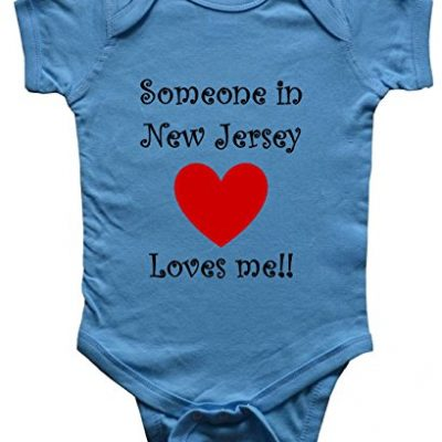 SOMEONE-IN-NEW-JERSEY-LOVES-ME-NEW-JERSEY-BABY-State-series-Blue-Baby-One-Piece-Bodysuit-size-Medium-12M-0