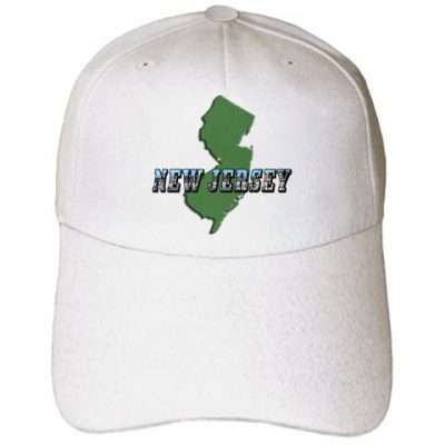 info for 1e842 322fa Sandy Mertens New Jersey – State Map of New Jersey and Picture Text – Caps  – Adult Baseball Cap (cap 60303 1)