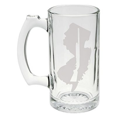 State-of-New-Jersey-with-Shotgun-Cutout-Etched-Stein-Glass-25oz-Mug-0