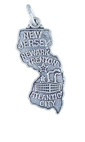 Sterling silver girls 20 8mm box chain new jersey state pendant sterling silver girls 20 8mm box chain new jersey state pendant necklace aloadofball Image collections
